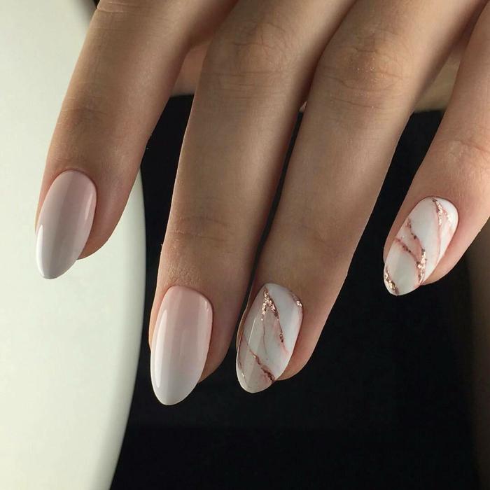 nail art facile effet marbré