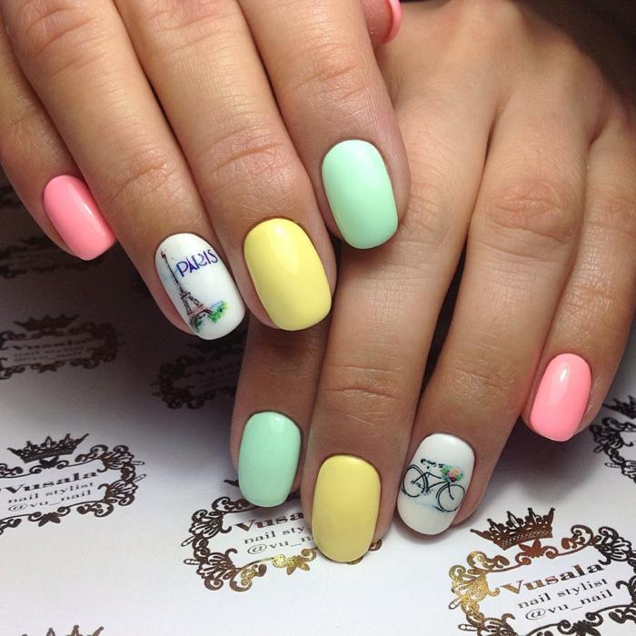 Nail art facile et tendance 40 id es pour c l brer l 39 arriv e du printemps - Idee nail art facile ...