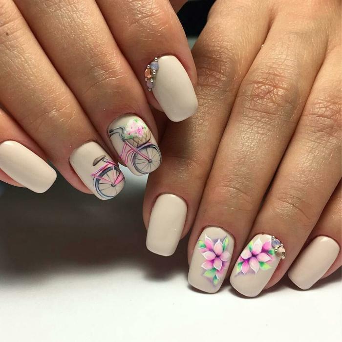 nail art facile idée jolie pour le printemps