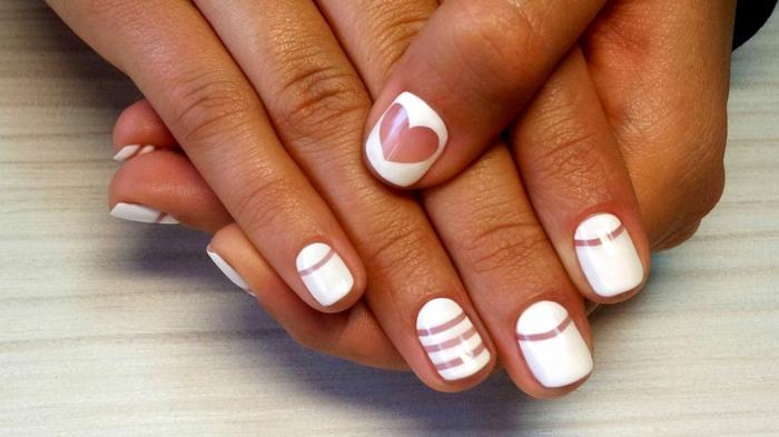 nail art facile manucure blanc