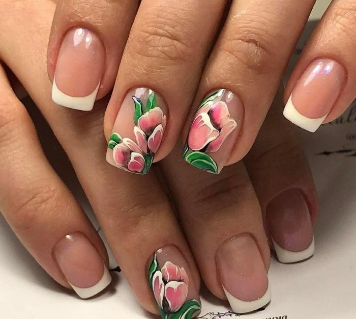 nail art facile motifs floraux