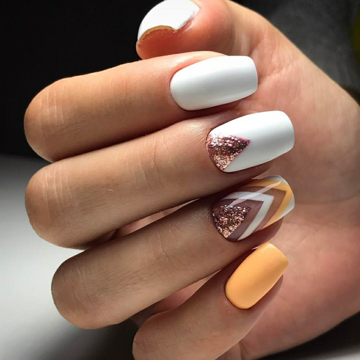 nail art facile plein de brillance