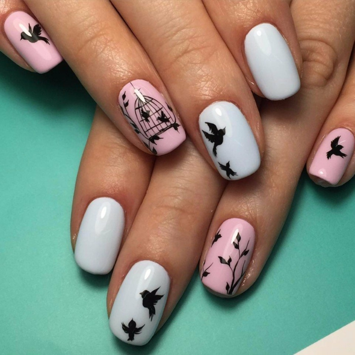 nail art facile printanier
