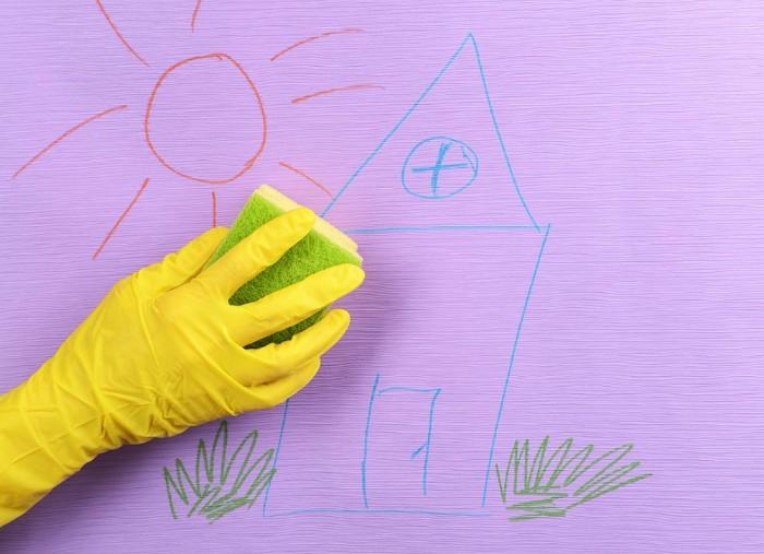 nettoyer peintures sur le mur dégrippant wd40