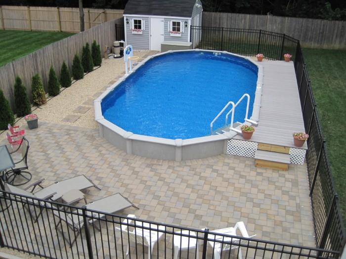 piscine semi-enterrée acier