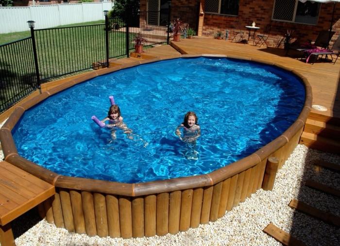 piscine semi-enterrée bois composite