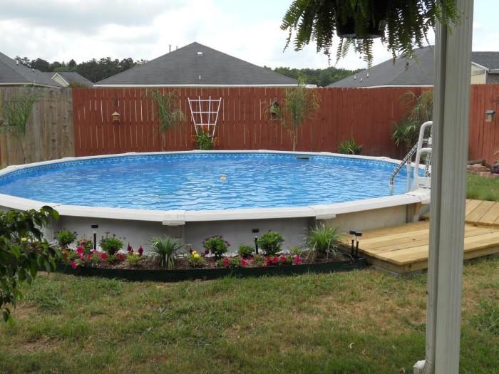 piscine semi-enterrée parois plastique