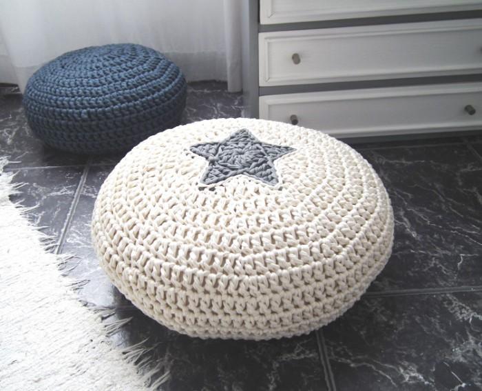 pouf design fait avec pneu recyclé