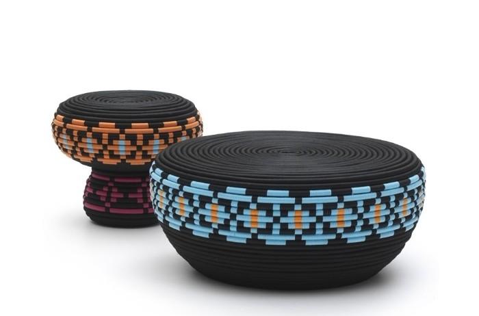 poufs design produits de pneu recyclé