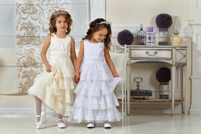 robe demoiselle d honneur blanche et champagne