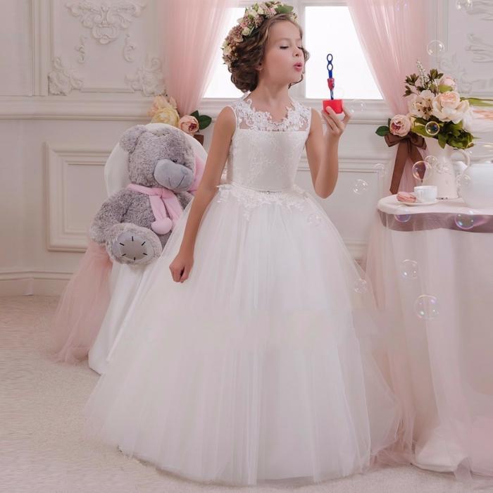 robe demoiselle d' honneur blanche