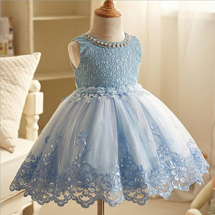 robe demoiselle d'honneur dentelle bleue