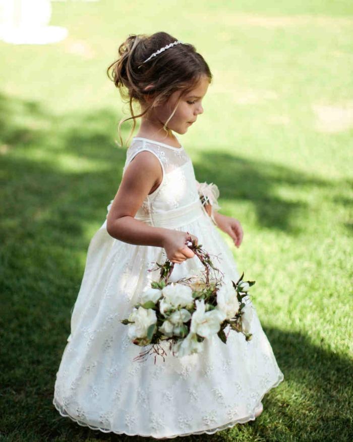 robe demoiselle d' honneur en blanc