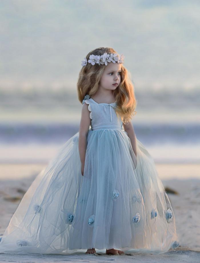 robe demoiselle d'honneur magnigique couleur bleu gris