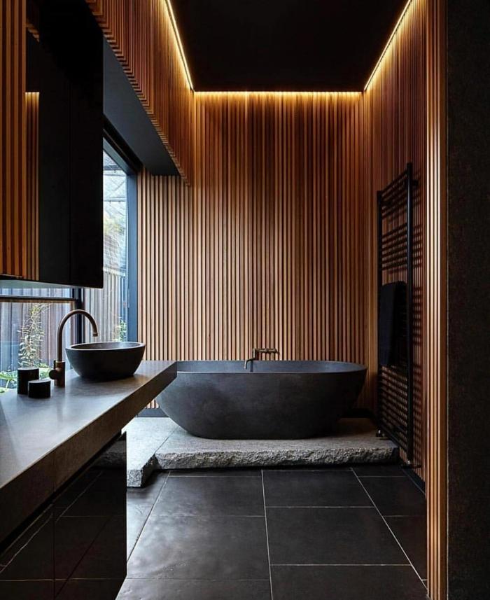 salle de bain tendance japandi