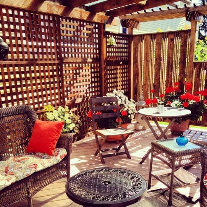 salon de jardin brise-vue en bois