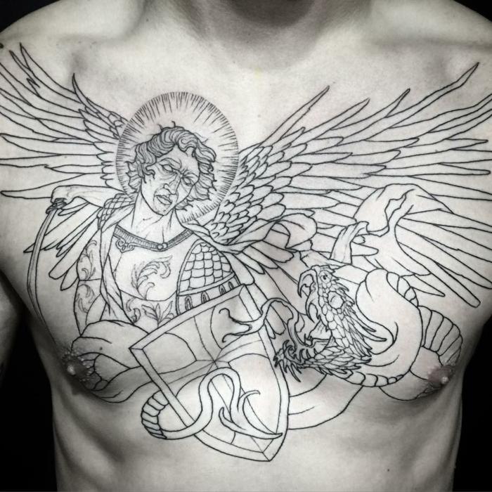 Tatouage ange signification et id es de mod les originaux - Tatouage de protection contre le mal ...