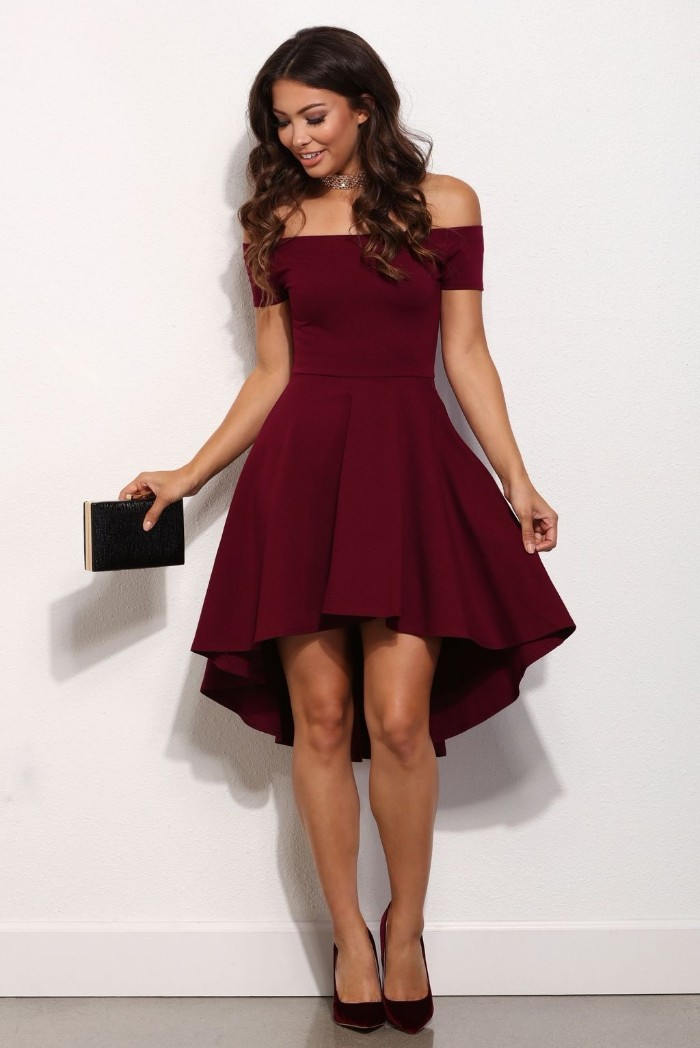 tenue invitée mariage petite robe rouge