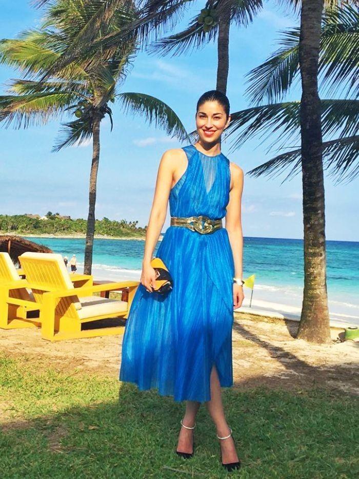 tenue invitée mariage robe bleue été