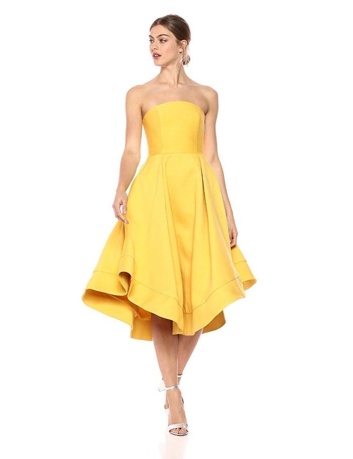tenue invitée mariage robe jaune été