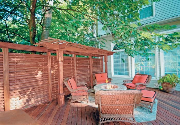 terrasse brise-vue en bois