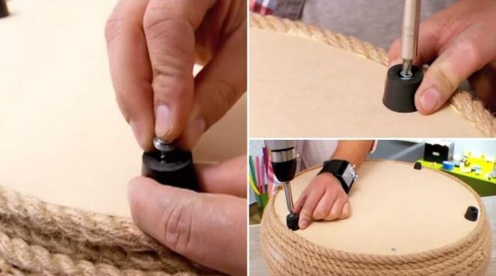 utiliser pneu recyclé pour créer un pouf