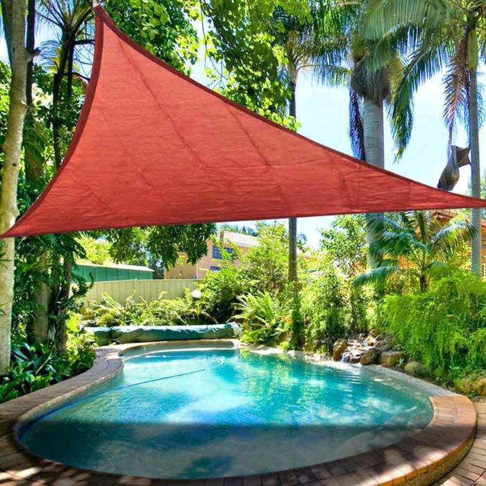 voile d'ombrage idée pour la piscine