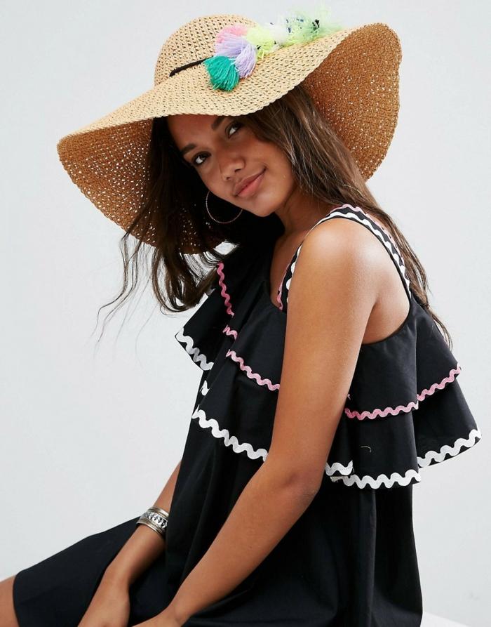 accessoire tendance chapeau de paille