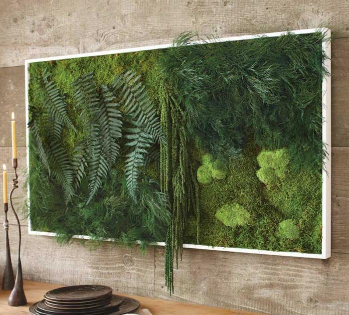 art mural mousse végétale
