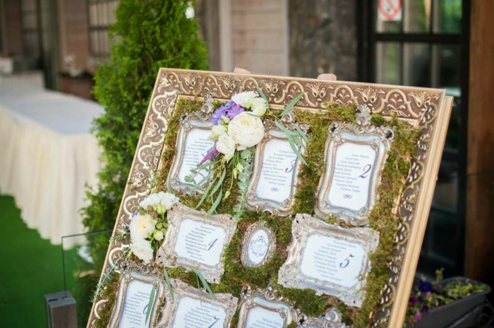 cadre photos plan de table mariage idée