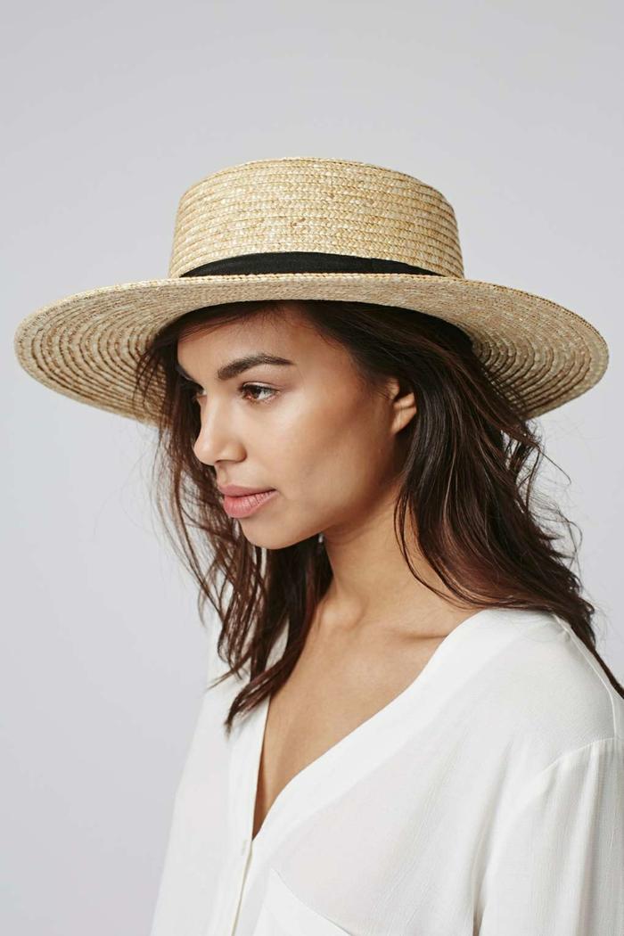 canotier chapeau de paille tendance été