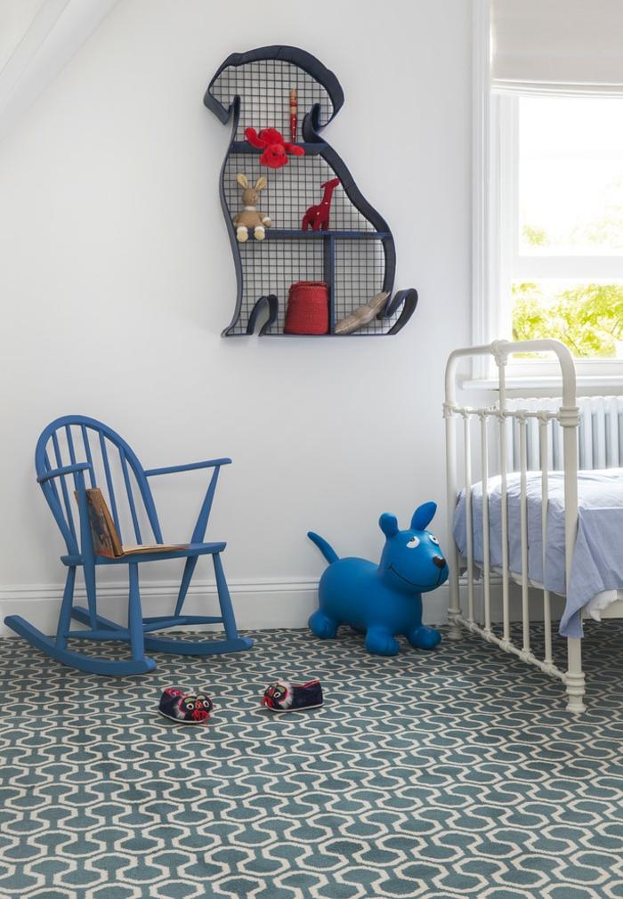 chambre d'enfant contemporaine tapis graphique
