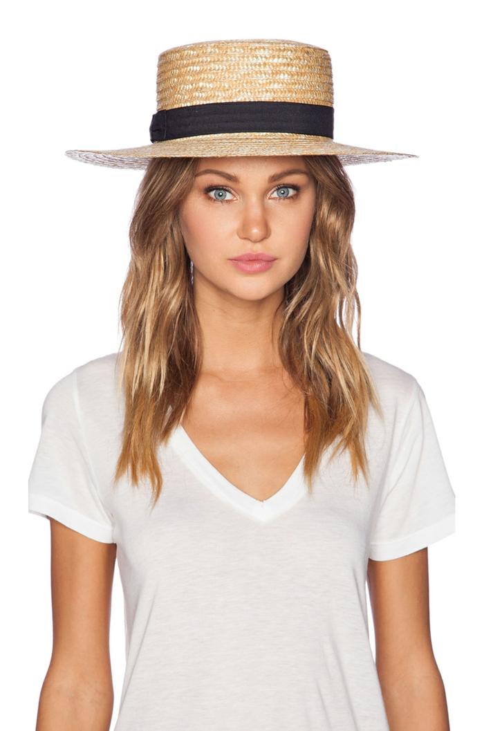 chapeau de paille forme canotier