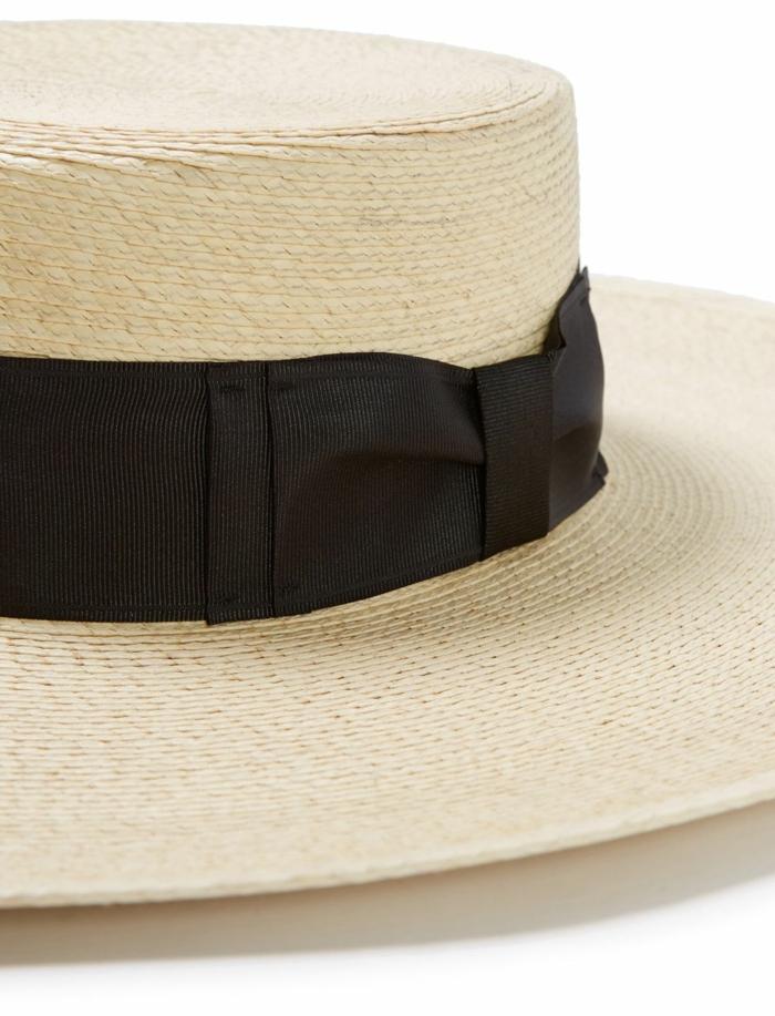 chapeau de paille modèle canotier pour l'été