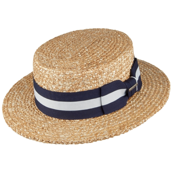 chapeau de paille modèle canotier