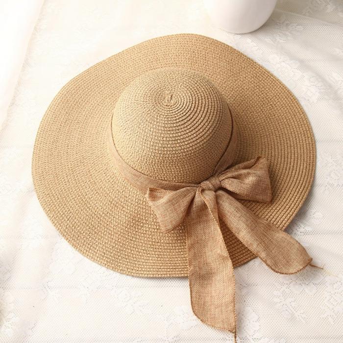 chapeau de paille modèle capeline pour l'été