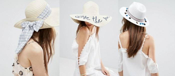 chapeau de paille modèles