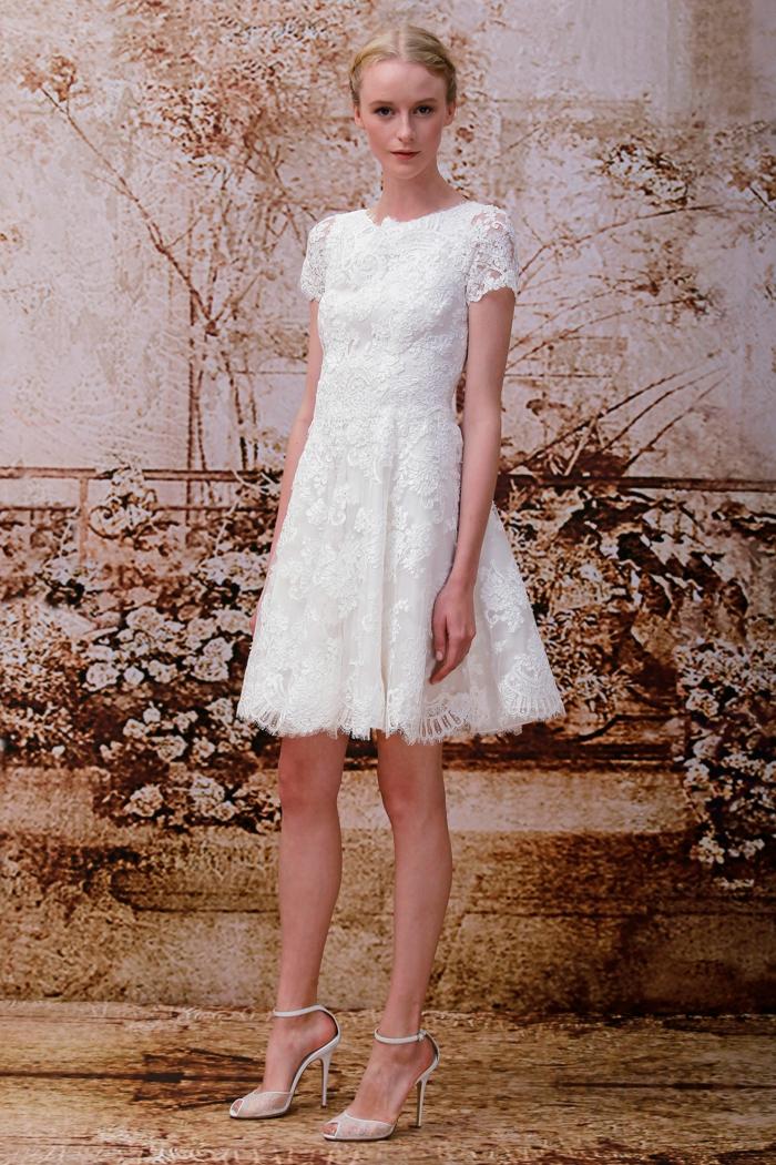 chic robe de mariée courte
