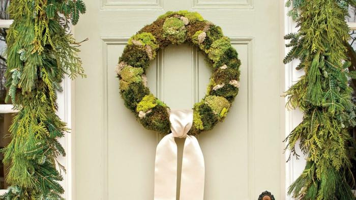 couronne de porte déco mousse végétale
