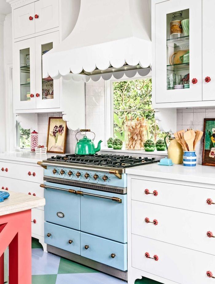 cuisine campagne chic avec piano de cuisson