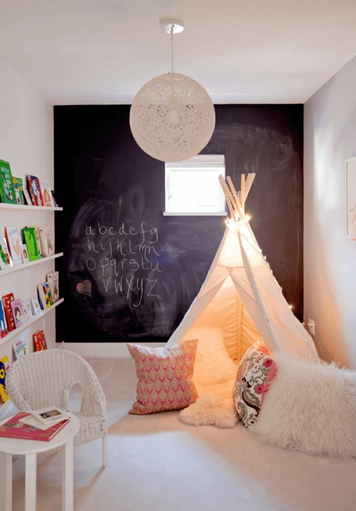 déco chambre enfant idée avec tableau ardoise