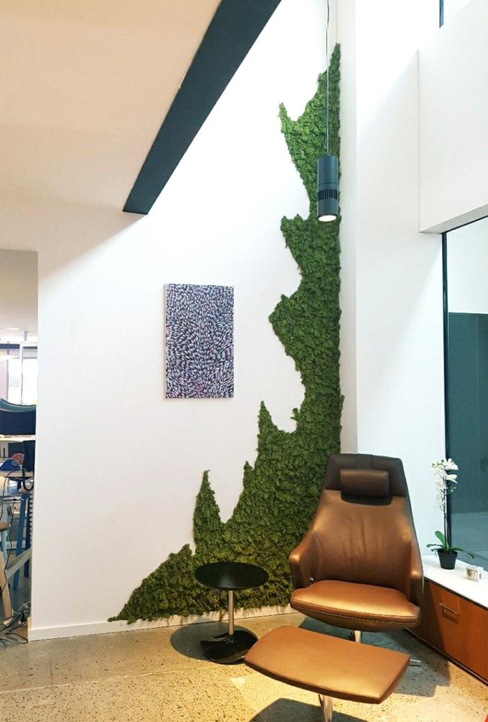 déco murale créative mousse végétale