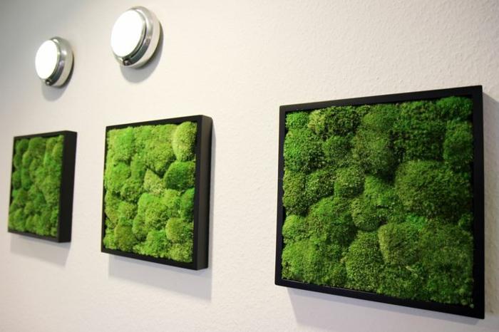 décoration murale diy mousse végétale