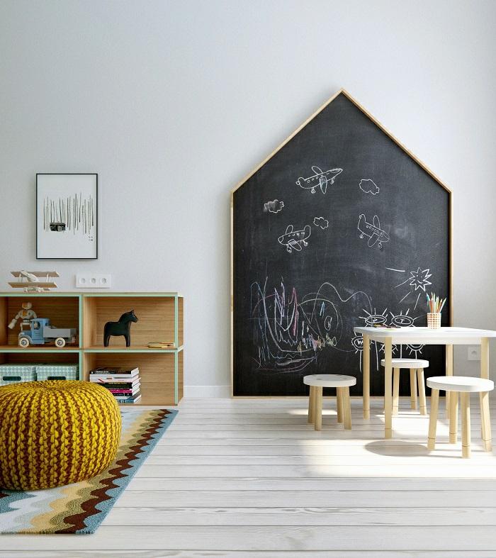 décorer la chambre enfant avec tableau ardoise