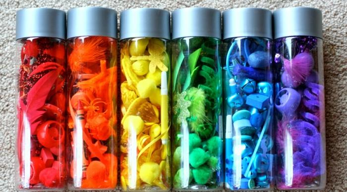 diy bouteille sensorielle colorant alimentaire