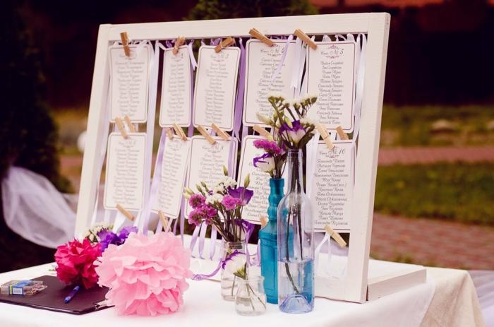 diy plan de table mariage idées