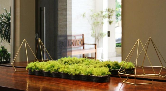 idée déco mousse végétale décoration de table salle à manger
