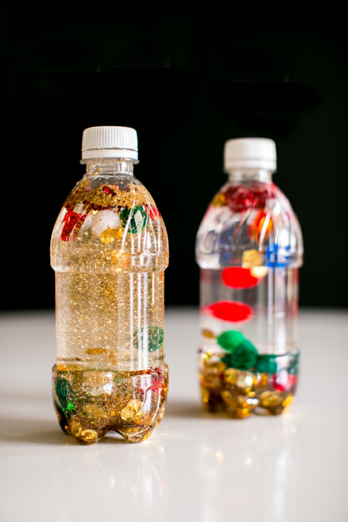 idée diy bouteille sensorielle pour bébé