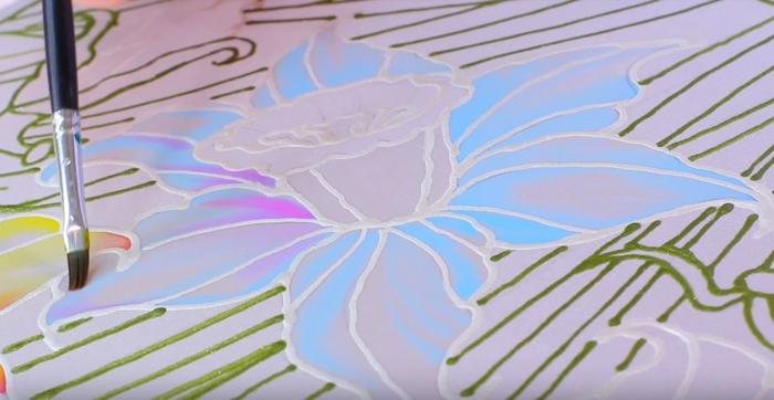 idée diy peinture sur soie