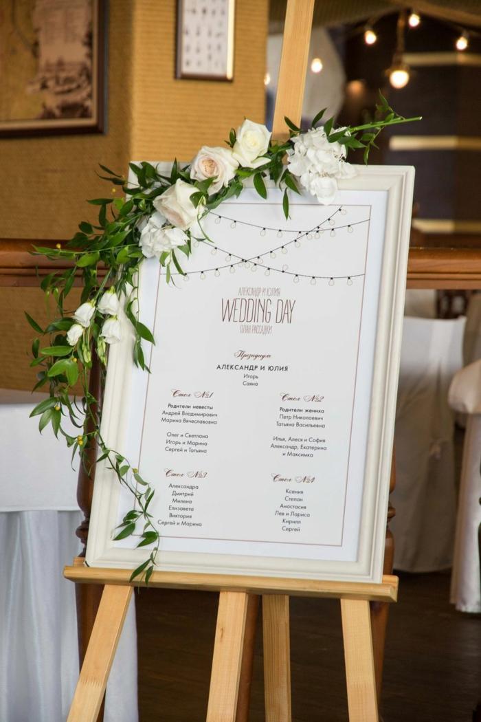 idée plan de table mariage avec cadre photos